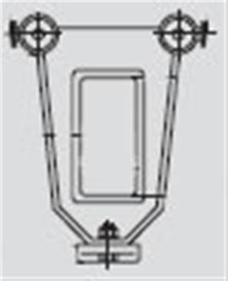 023297: Steel Towing Trolley For Round Cable Clip