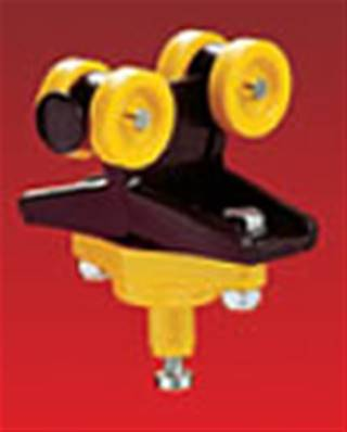 023291: Steel Trolley With Ball Joint For Round Cable Clip