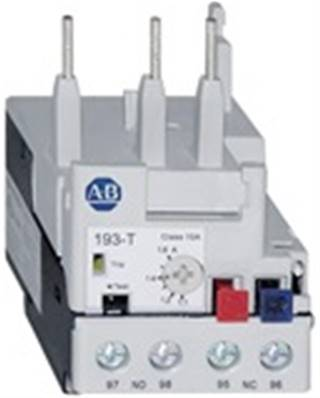 193-T1AC-10: 7.2-10 Amp Overload Relay. Bimetallic. Use Base 193-T1APM For Panel & DIN Mount