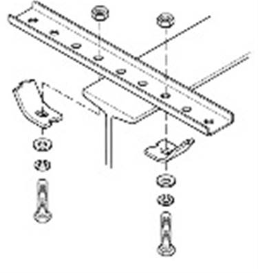 "B-100-BR4A: Straight Steel Bracket - 12 Holes x 18"" with Mounting Clamps"